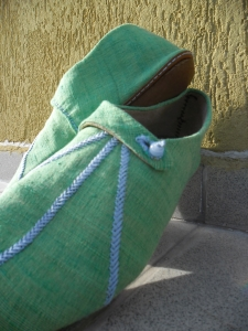 Decorated medieval shoes