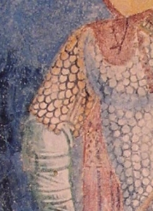 Detail on sleeve slit
