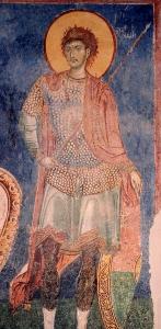 Warrior saint from Nerezi Serbia