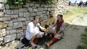 Acting as medieval beggars