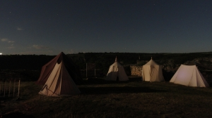 The camp at night, during a full moon. Divine!