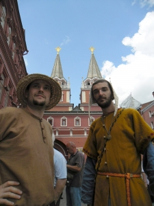 Medka and Mihail at inside the Kremlin