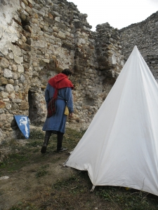 We made a small camp in the ruins of the keep