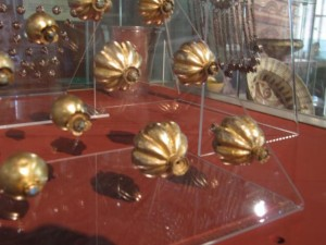 Original gold and silver buttons from 12-14th century - National Museum of Bulgaria