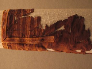 The sleeve of St.Bertille (7th cent.), decorated with tablet weaving