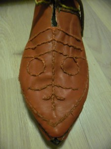 Medieval decorated shoes